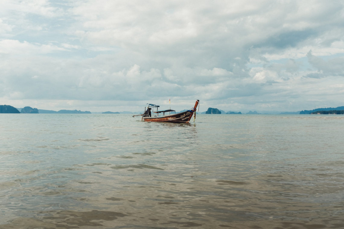 Longtail Leaving with the Tide - Krabi, Thailand - Fuji X100F