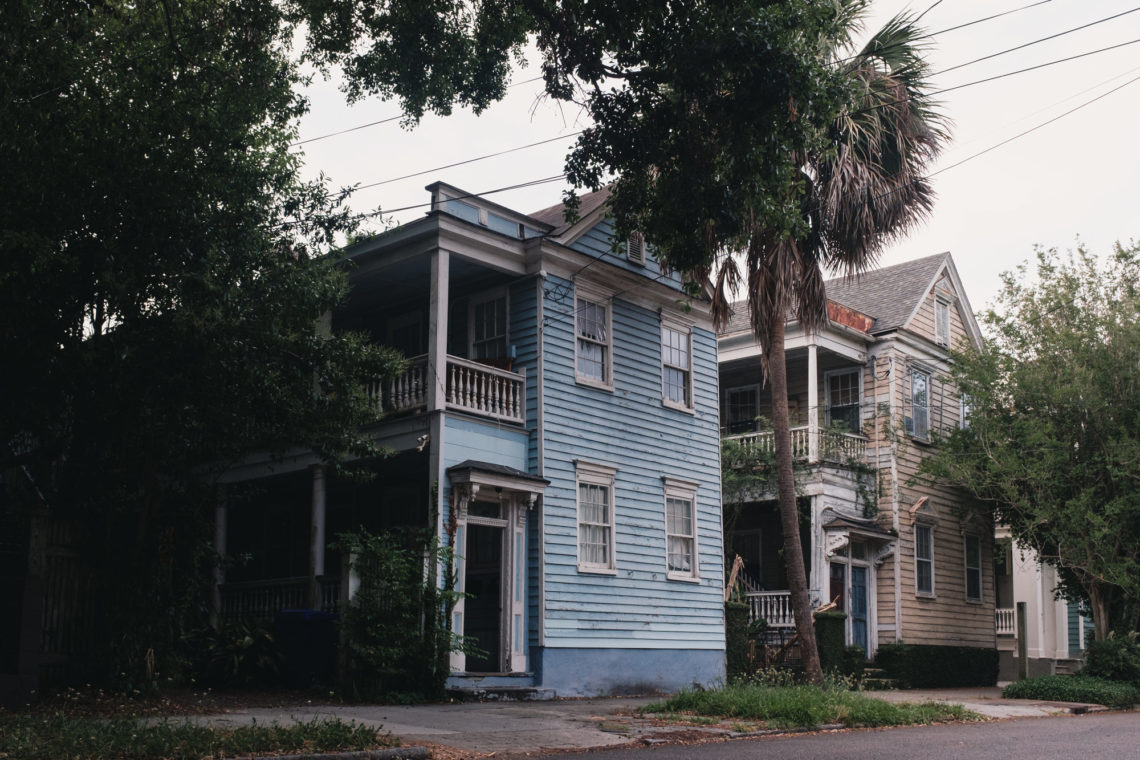 Blue House, Yellow House - Charleston, South Carolina - Fuji X100F