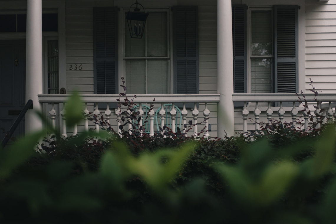 Two Teal Porch Chairs - Charleston, South Carolina - Canon XTi